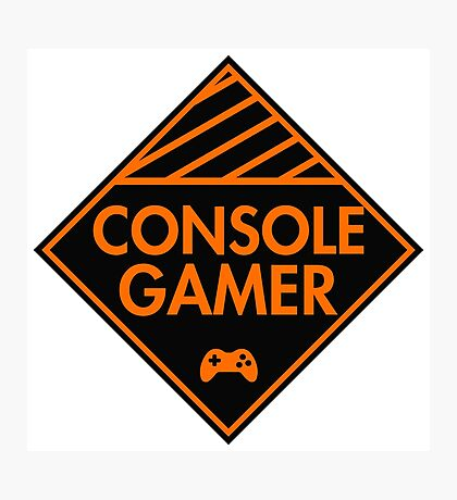 Console Gamer (Orange) Photographic Print