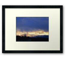 Storm Over Blacktail Mountain Framed Print