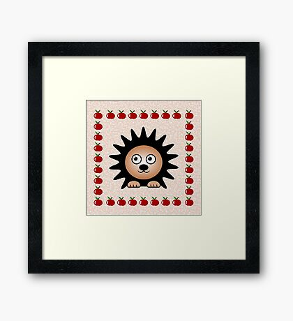 Little Cute Hedgehog Framed Print