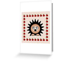 Little Cute Hedgehog Greeting Card