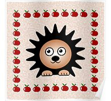 Little Cute Hedgehog Poster