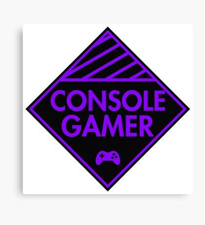 Console Gamer (Purple) Canvas Print
