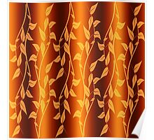 Abstract background of leaves Poster