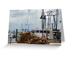Tarpon Springs sponge boats Greeting Card