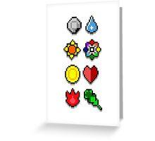 Gym Badges Greeting Card