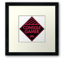 Console Gamer (Red-Pink) Framed Print