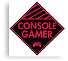 Console Gamer (Red-Pink) Canvas Print