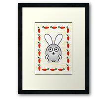 Little Cute Bunny Framed Print