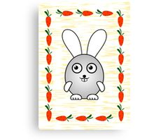 Little Cute Bunny Canvas Print