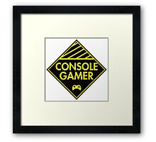 Console Gamer (Yellow) Framed Print