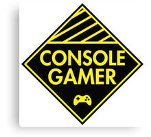 Console Gamer (Yellow) Canvas Print
