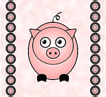 Little Cute Piggy by Anastasiya Malakhova