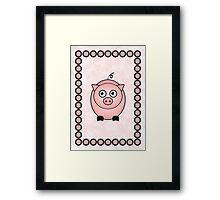 Little Cute Piggy Framed Print