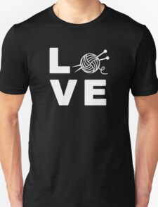 Knitting Love Gift for knit and yarn lovers T-Shirt