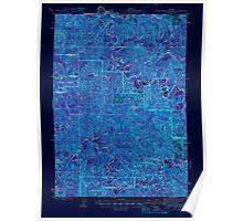 USGS Topo Map Oregon Roman Nose Mtn 282845 1945 62500 Inverted Poster