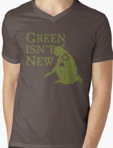 Green Isn't New (Green) Mens V-Neck T-Shirt