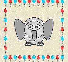 Little Cute Elephant by Anastasiya Malakhova