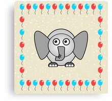 Little Cute Elephant Canvas Print