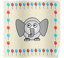 Little Cute Elephant Poster