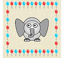 Little Cute Elephant Photographic Print