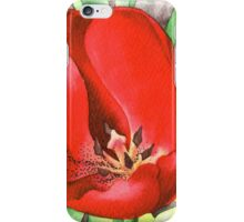 Red Tulip - Watercolour marker painting iPhone Case/Skin
