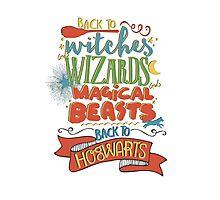 Back to Hogwarts Photographic Print
