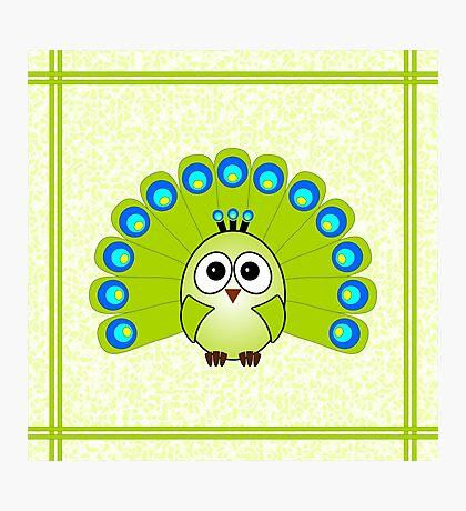 Little Cute Peacock Photographic Print