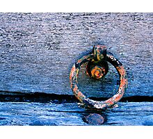 Red ring on blue Photographic Print