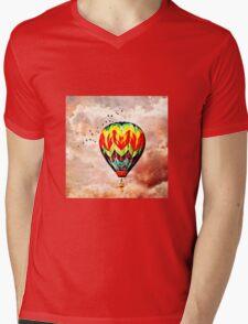 Following the Moon  Mens V-Neck T-Shirt