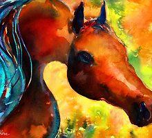 Fantasy Arabian Horse painting Svetlana Novikova by Svetlana  Novikova