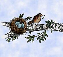 Birdie Sketch by HannahJConti