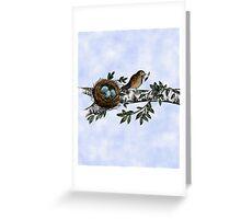 Birdie Sketch Greeting Card