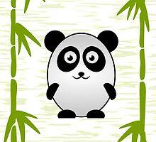 Little Cute Panda by Anastasiya Malakhova