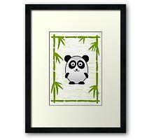 Little Cute Panda Framed Print