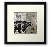 the bear walks through the world Framed Print