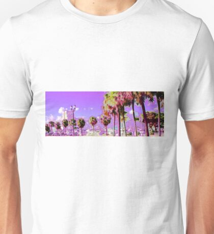 palm trees by the beach Unisex T-Shirt