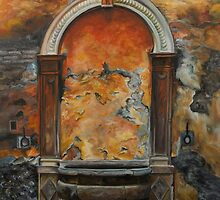 Ancient Italian Fountain by Charlotte  Blanchard