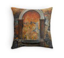 Ancient Italian Fountain Throw Pillow