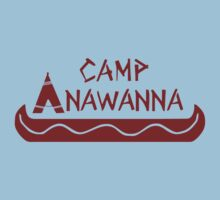Camp Anawanna Maroon Baby Tee