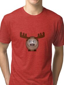 Little Cute Moose Tri-blend T-Shirt