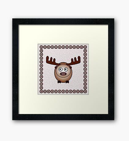 Little Cute Moose Framed Print