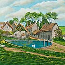 The Village Pond In Wroxton by Charlotte  Blanchard