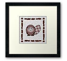 Little Cute Beaver Framed Print