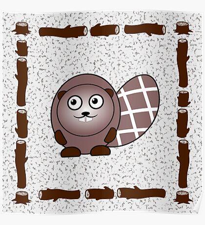 Little Cute Beaver Poster
