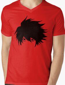 L - Vector Trace Mens V-Neck T-Shirt