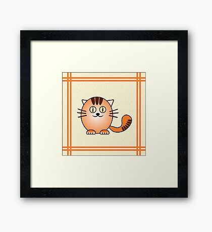 Little Cute Kitty Framed Print