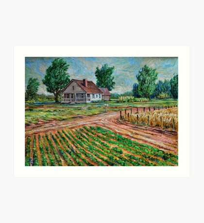 Family Farm Art Print