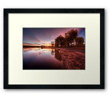 Pink Shore Framed Print