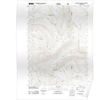 USGS Topo Map Oregon Red Blanket Mountain 20110715 TM Poster