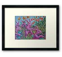Bunny Recon Framed Print